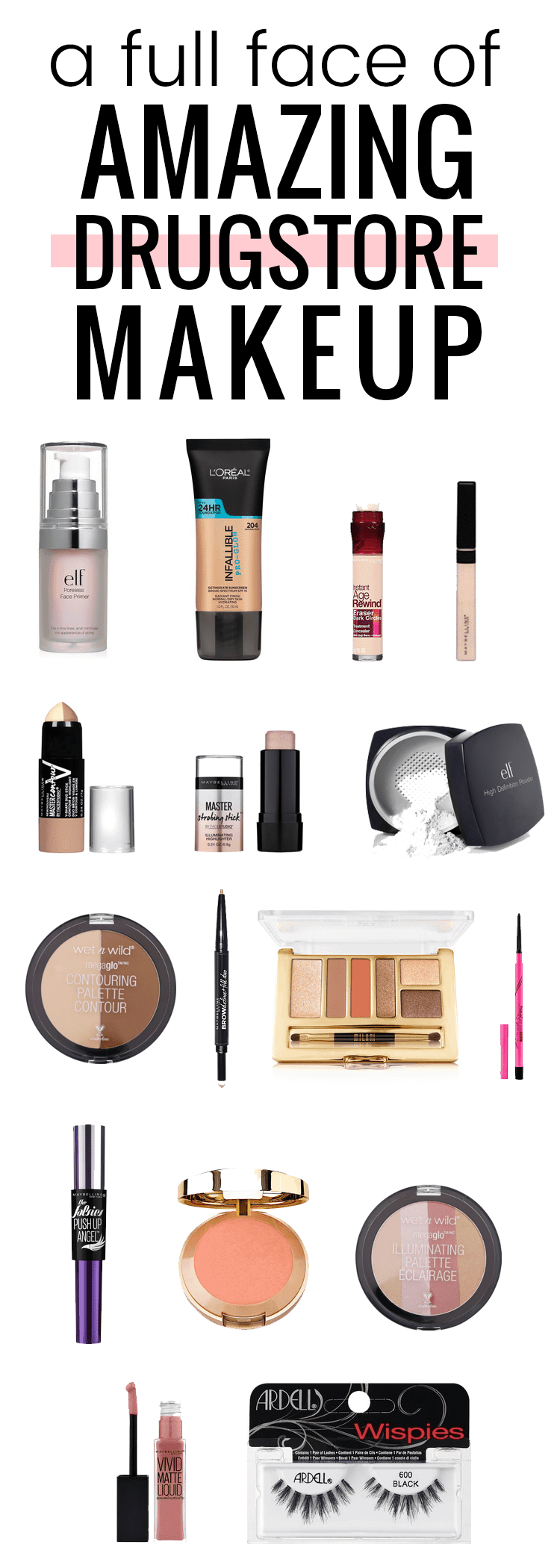 Things Needed For Full Face Makeup