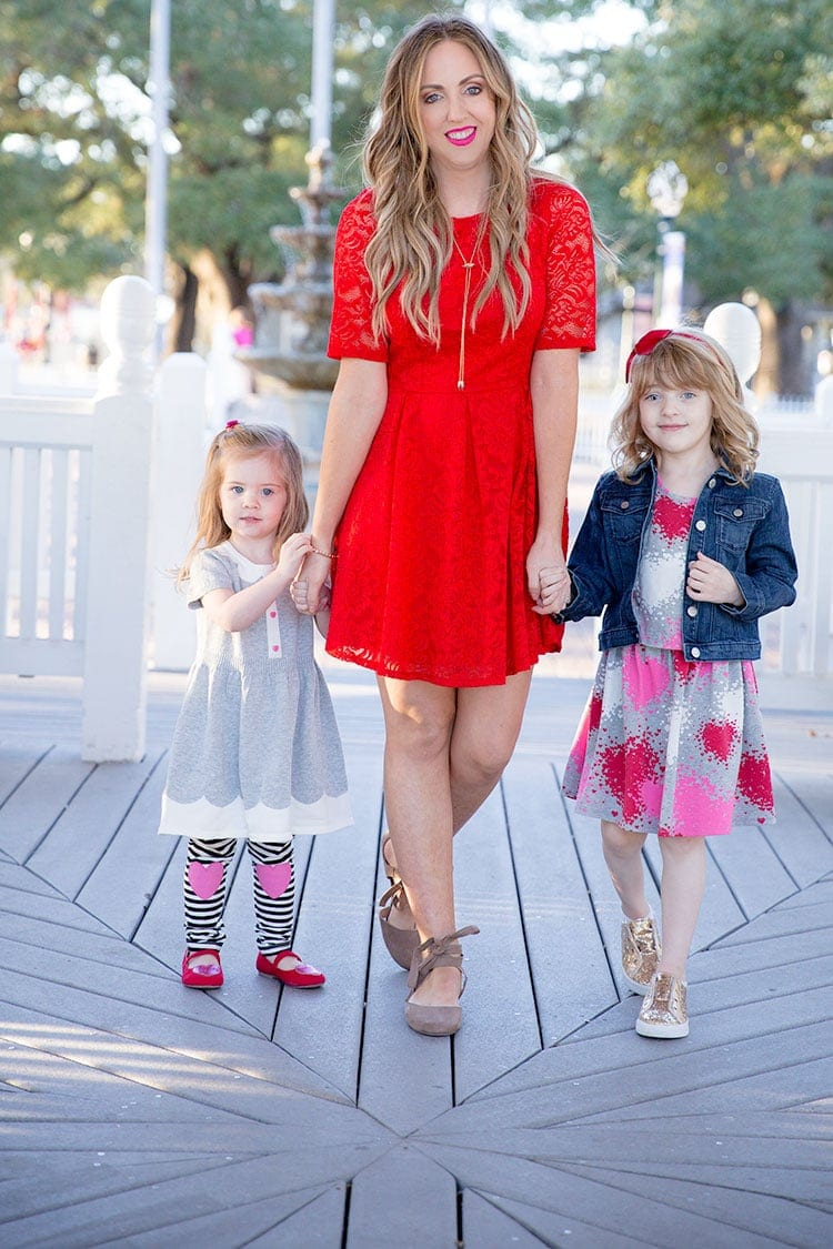 Mommy and daughter Valentine's Day outfit ideas