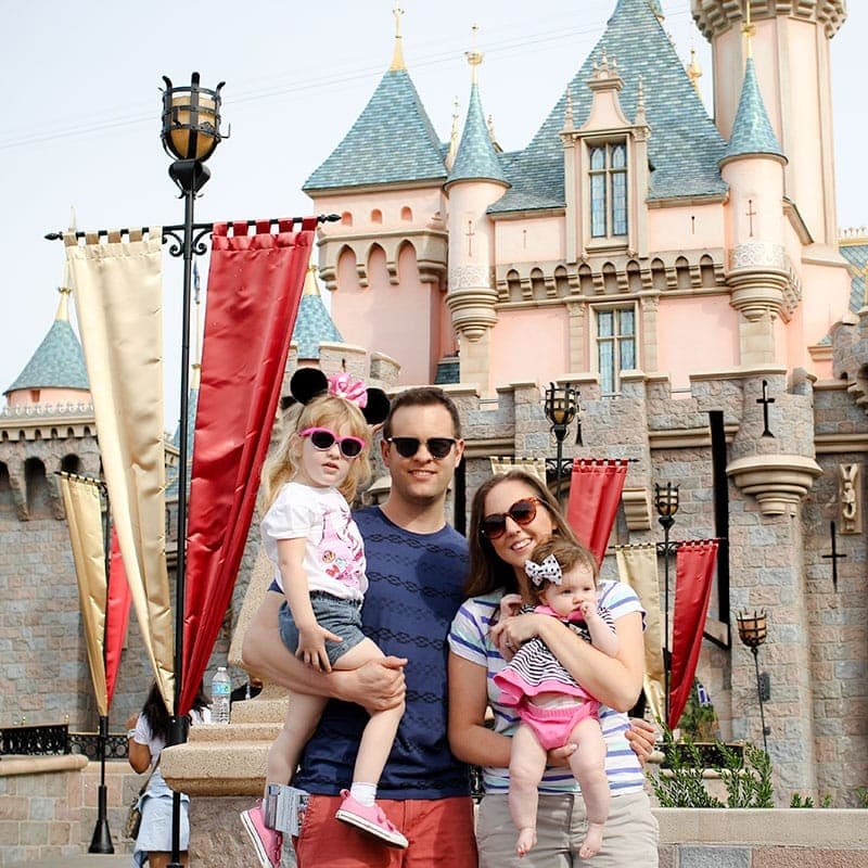 Disneyland family pic - why we travel with our kids
