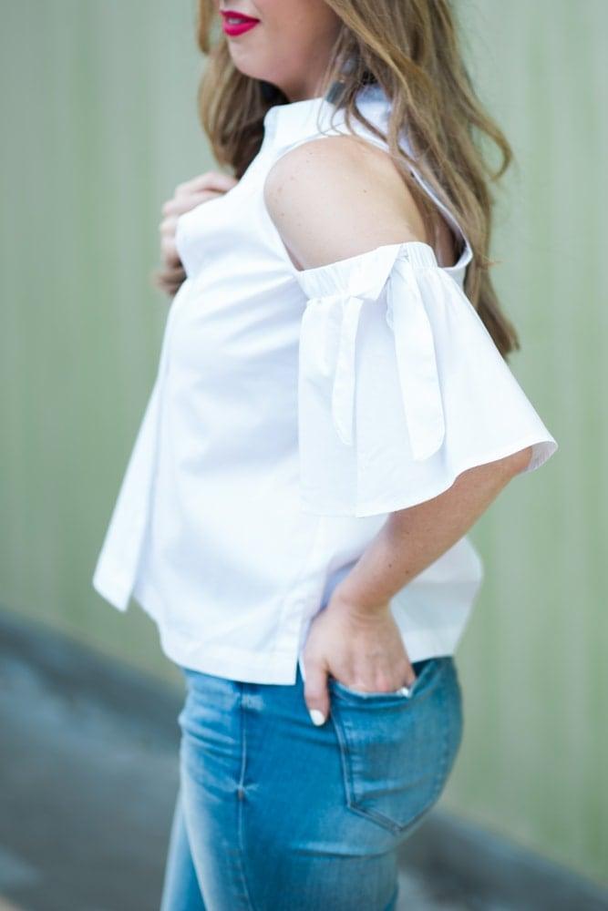 spring fashion trend - cold shoulder top