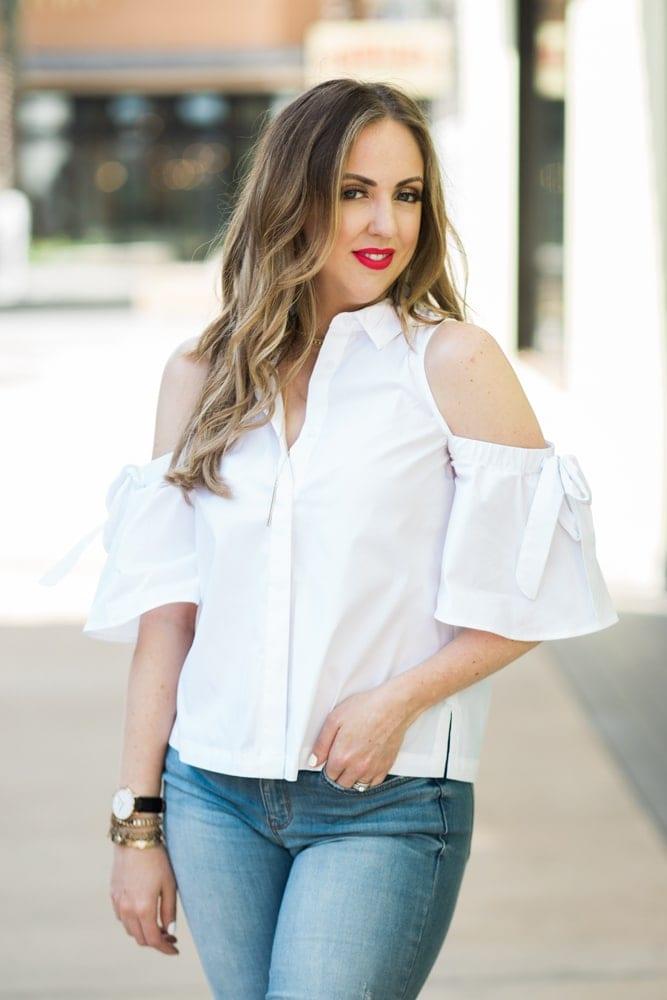 spring fashion trend - cold shoulder tops