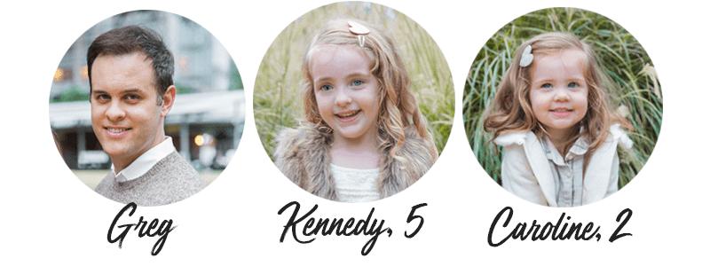 Greg, Kennedy & Caroline