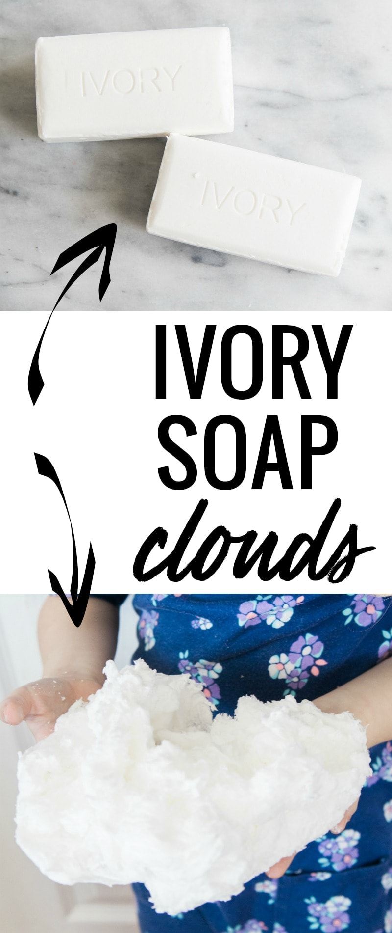 This ivory soap clouds experiment only takes two minutes to do, and is so easy!