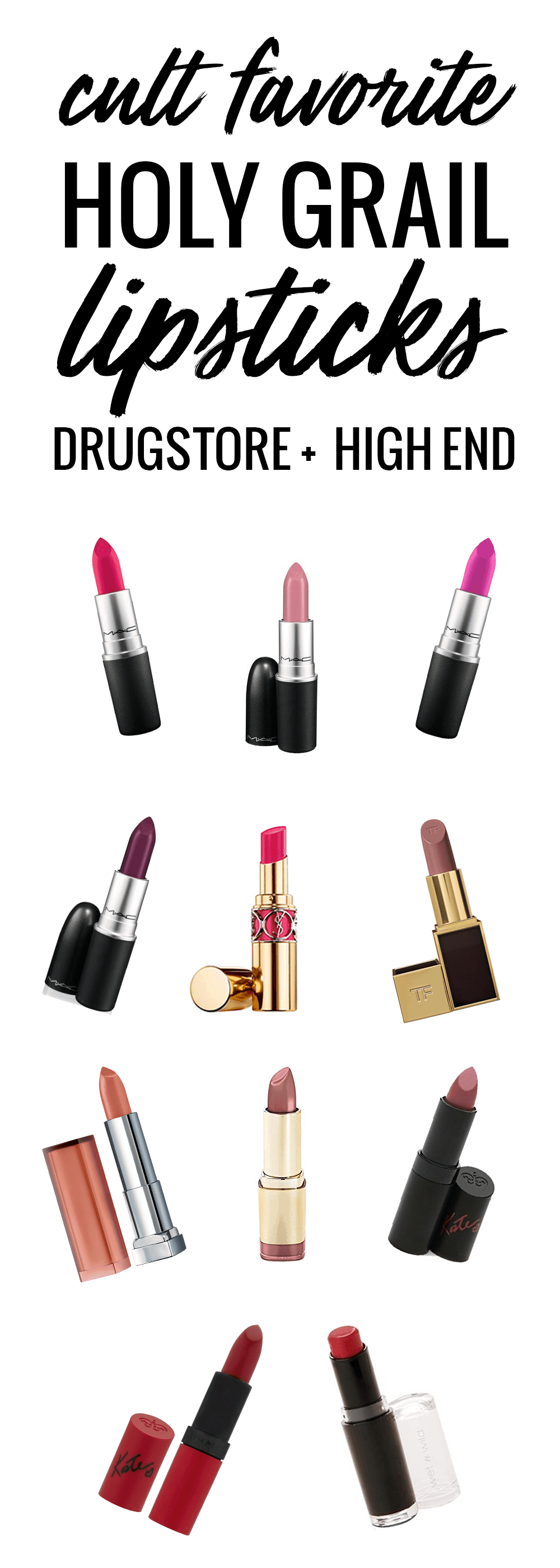 cult favorite holy grail lipsticks - drugstore and high end!