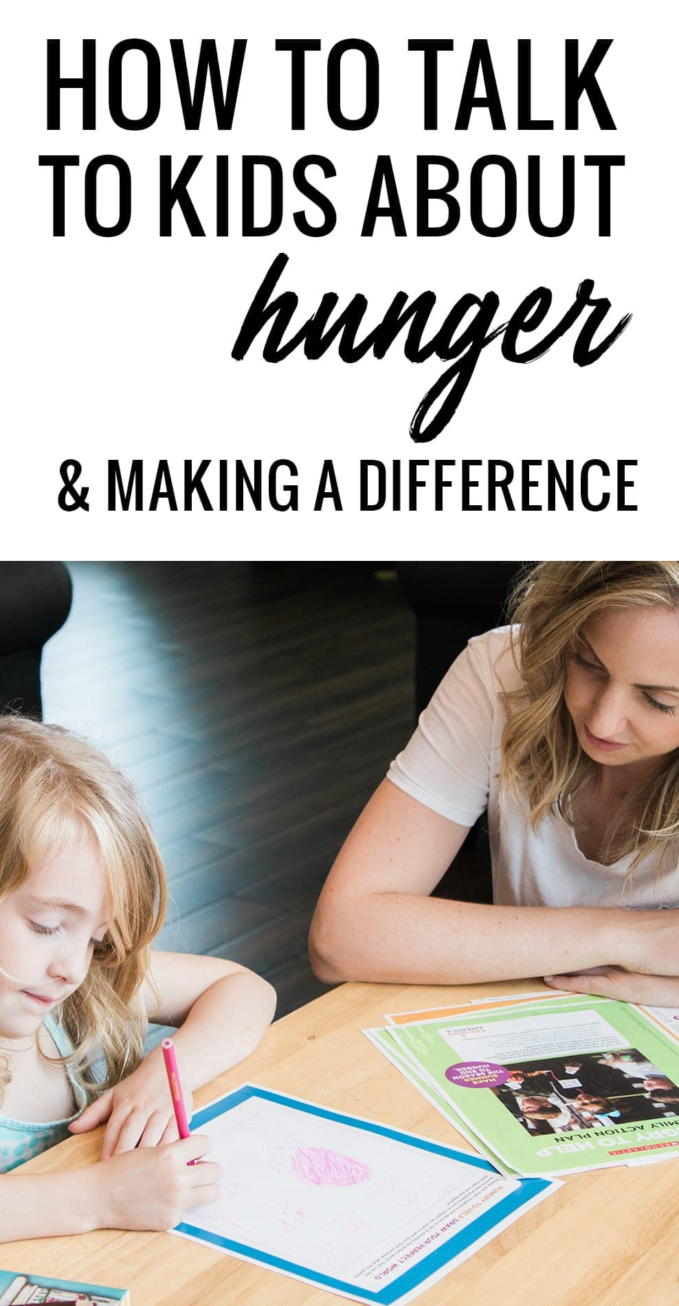 How to talk to your kids about child hunger and how to make a difference