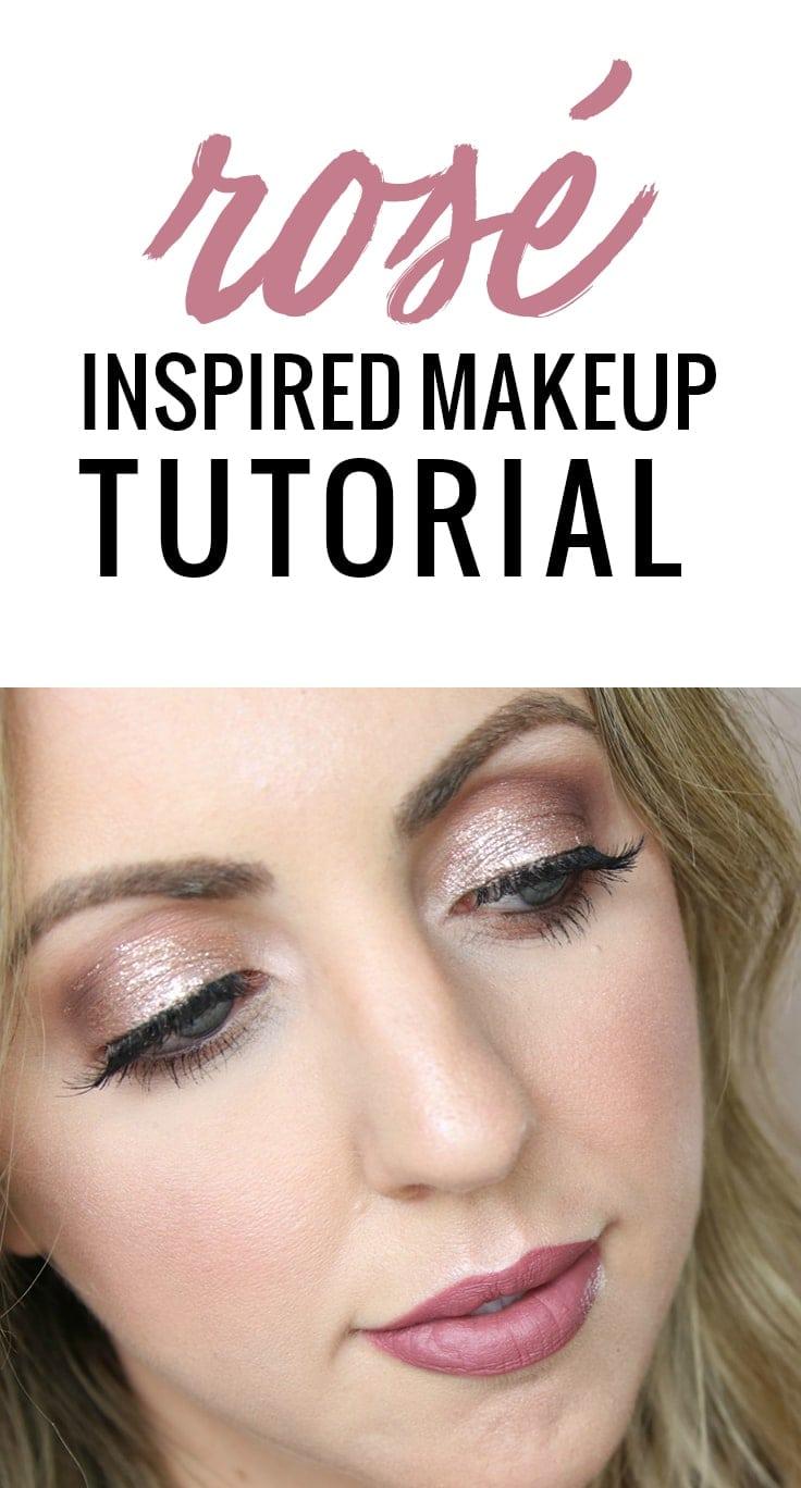 Rosé Inspired Makeup Look by Houston beauty blogger Meg O. on the Go