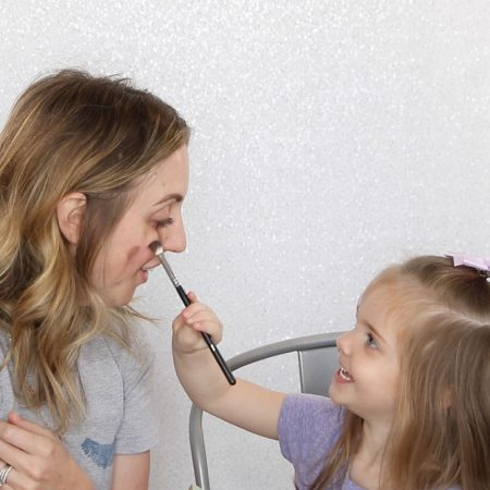 Makeup By Kids: My 3-Year-Old Kid Does My Makeup by Houston mommy blogger Meg O. on the Go