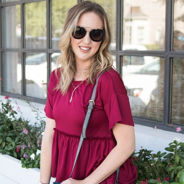 Easy Casual Style – The Best Burgundy Top for Fall
