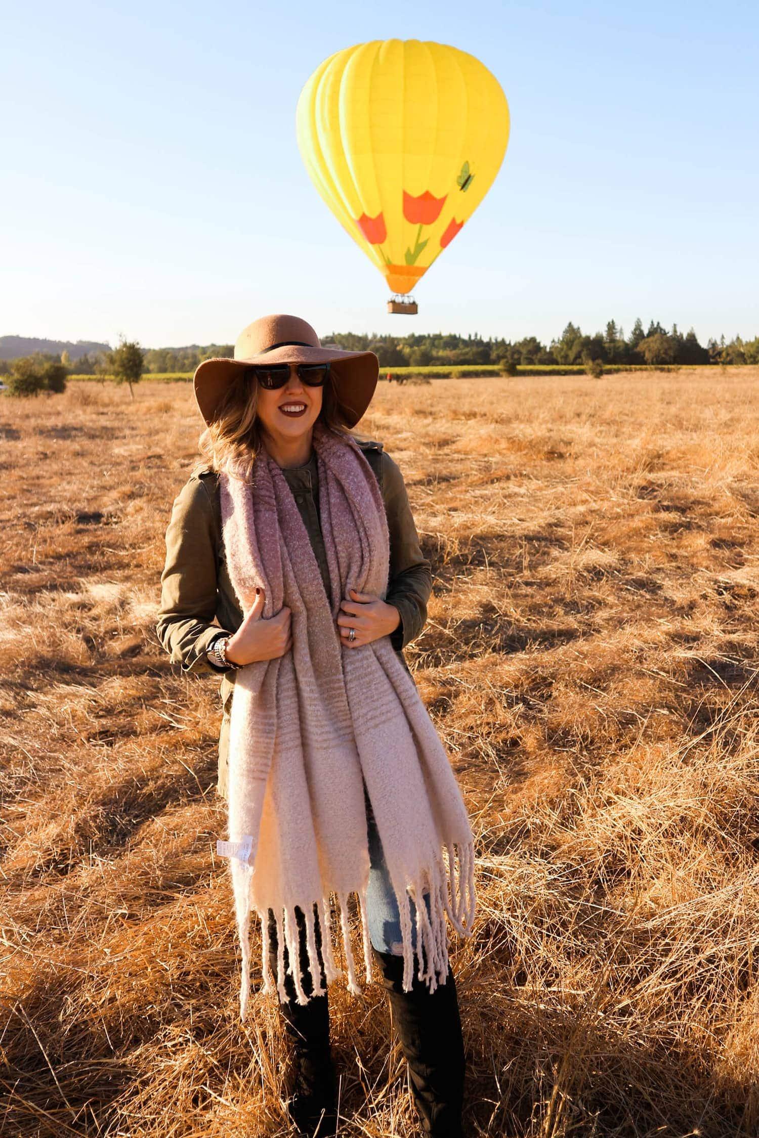 Napa Valley hot air balloon