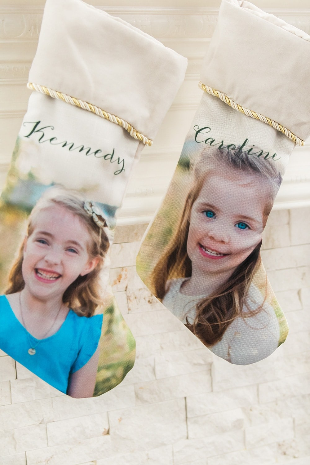 Personalized photo stockings from Shutterfly