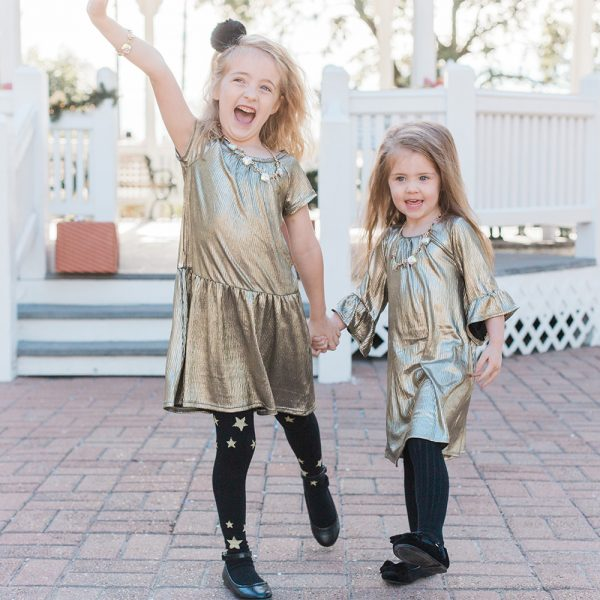 Kid Style: Metallic Holiday Dresses