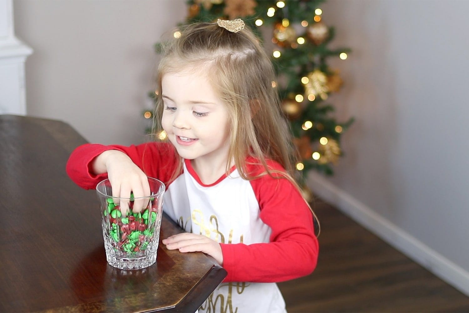 kid sneaking candy - holiday bloopers