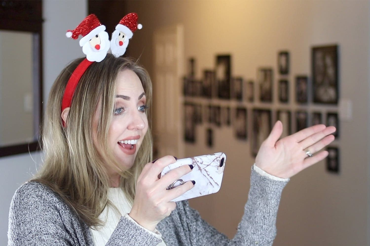 taking a photo - holiday bloopers by Houston blogger Meg O. on the Go