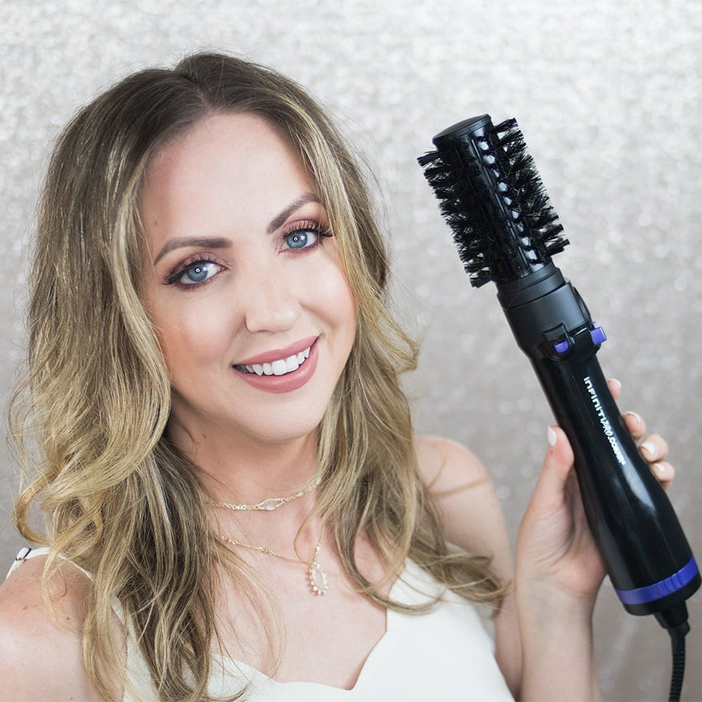 Blowout Beachy Waves Conair Infintipro Spin Air Brush Styler The Wet Tourmaline Small