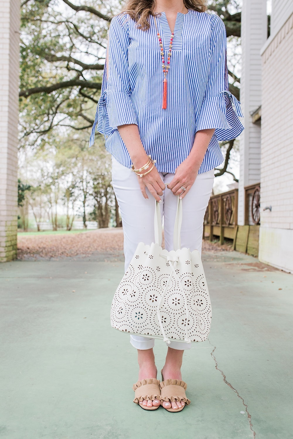 Houston blogger Meg O. on the Go shares spring outfit details - all from the Avon Modern Southern Belle Collection
