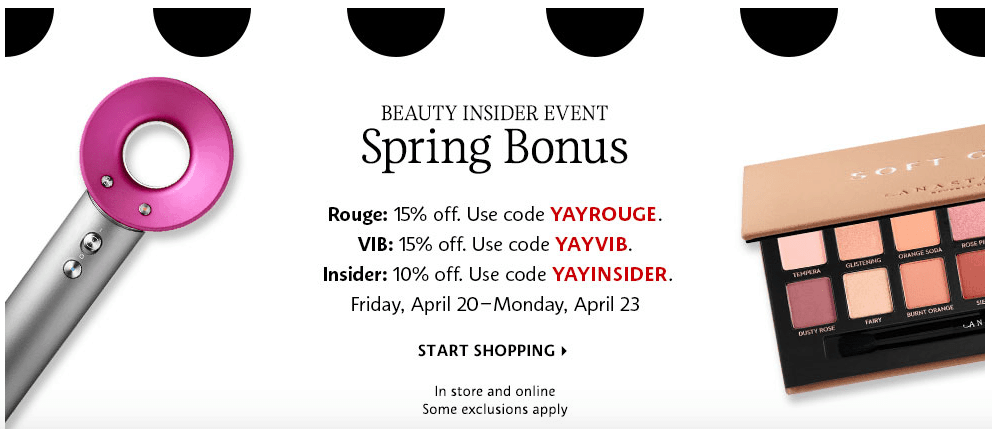 Sephora Spring Bonus VIB Sale 2018