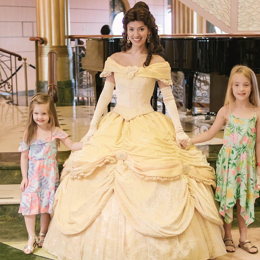 Princess gathering on the Disney Fantasy cruise