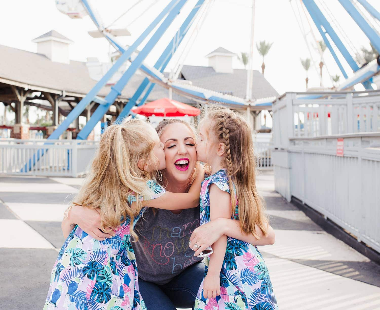 Houston mommy blogger Meg O. on the Go in an adorable mommy daughter photo