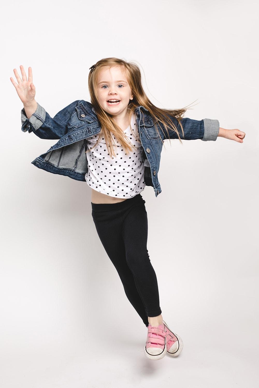 Child headshot action pose