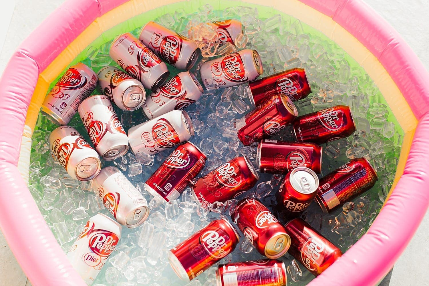 Fun idea for a pool party - use a baby pool as a cooler!