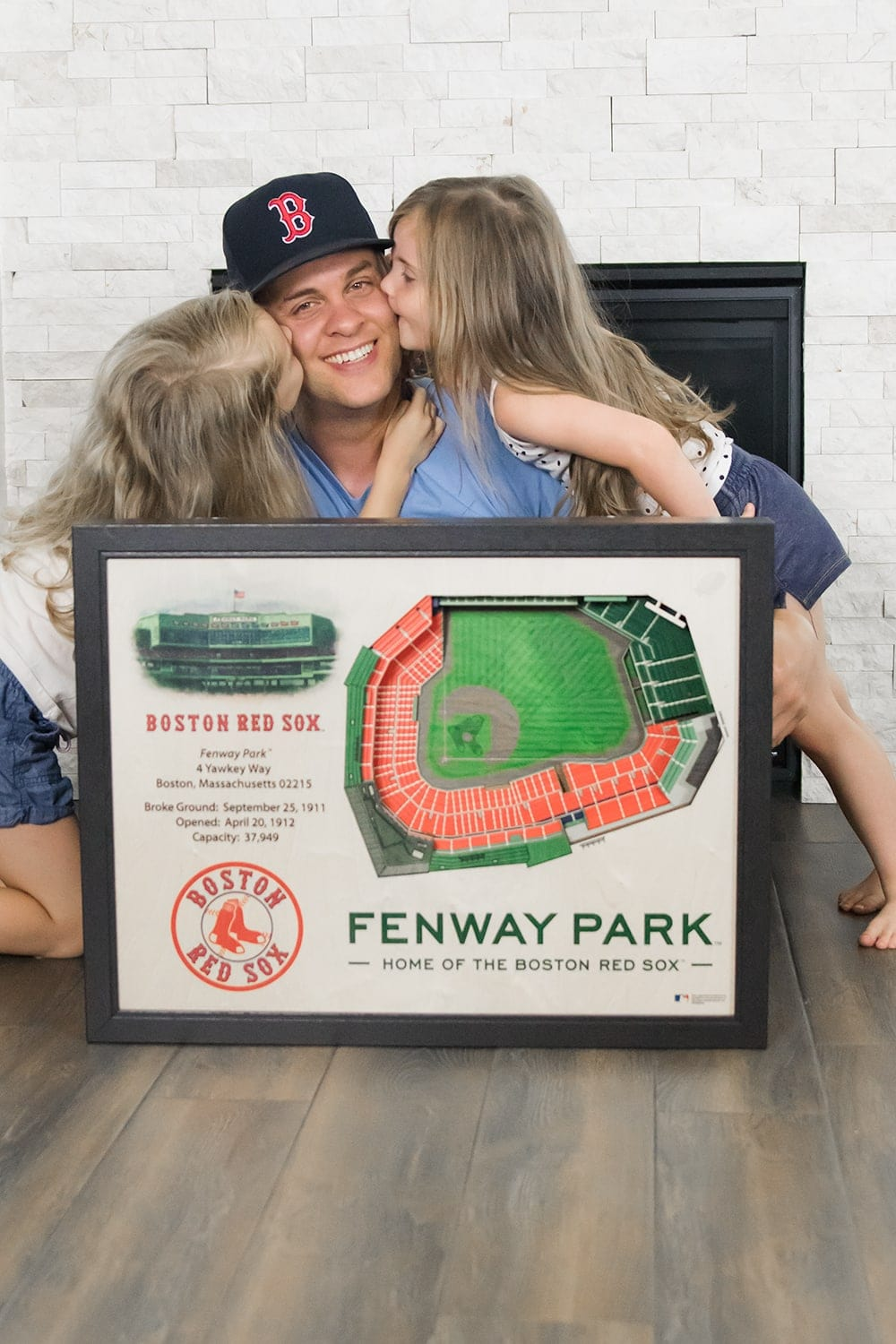 3D Stadium Wall Art - a fun father's day gift idea by Houston blogger Meg O. on the Go