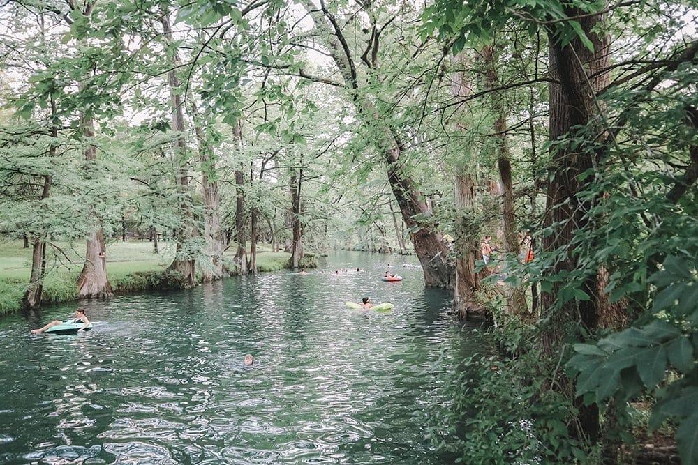 Blue Hole Regional Park in Wimberley, TX