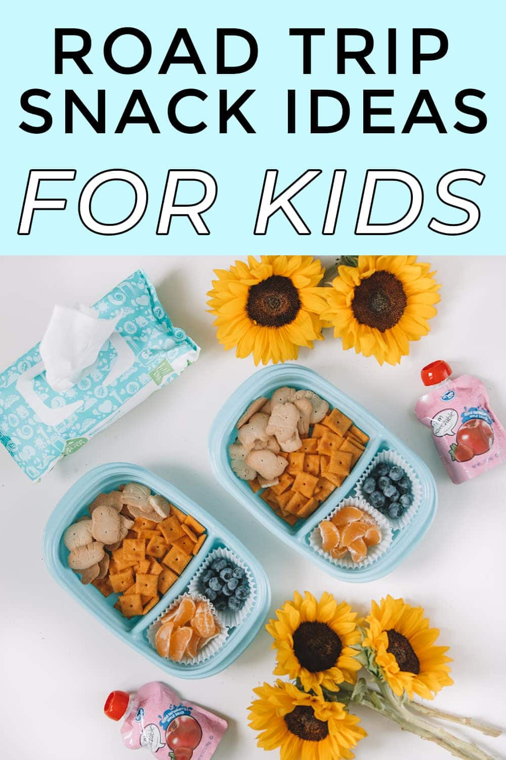 Road trip snack ideas for kids - love the preportioned containers for bento boxes! #snackideas #roadtripsnacks #kidssnackideas #mommyblogger