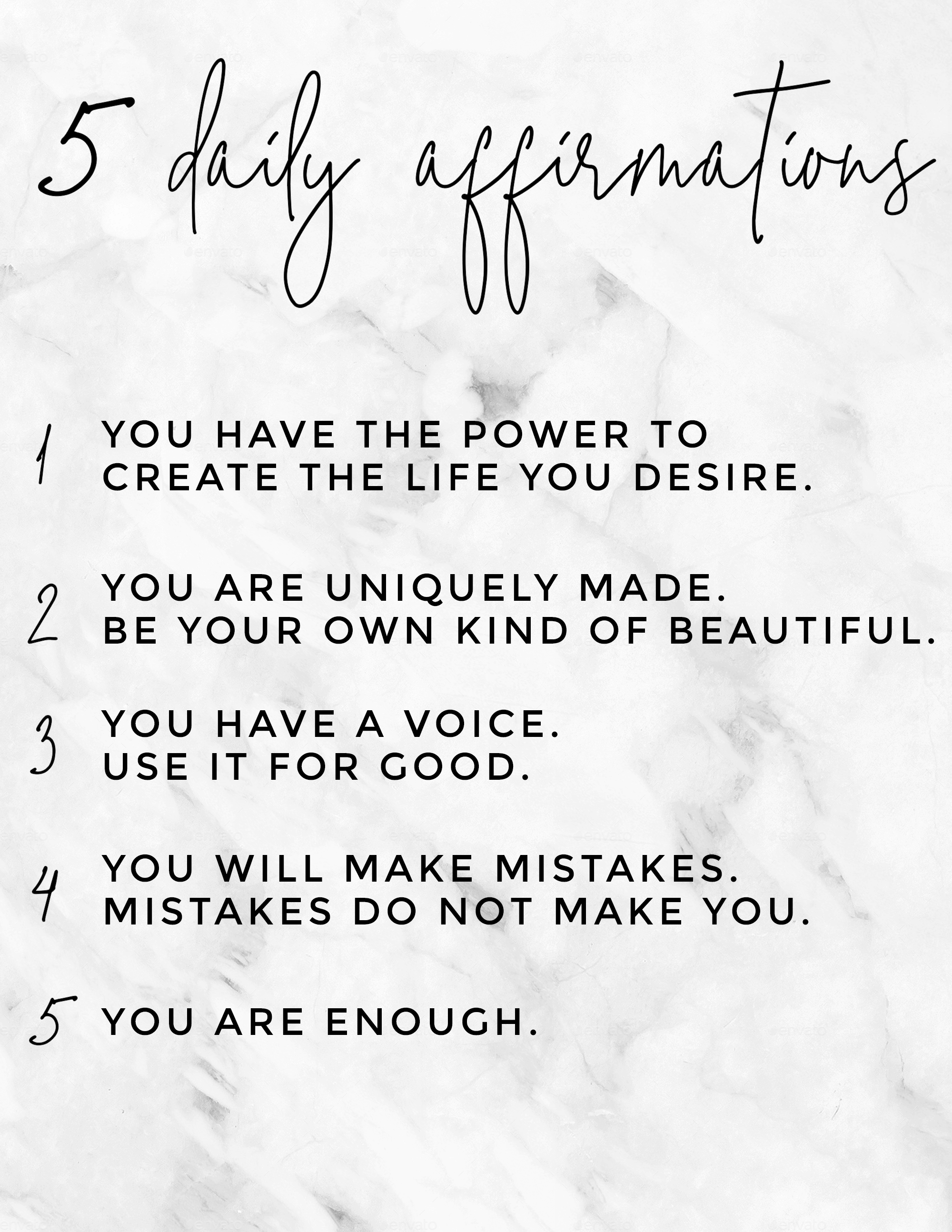 5 daily affirmations all girls and women should know