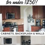 Houston blogger Meg O. on the Go shares how to paint your entire kitchen for under $250. Paint your cabinets, backsplash and walls on the cheap.