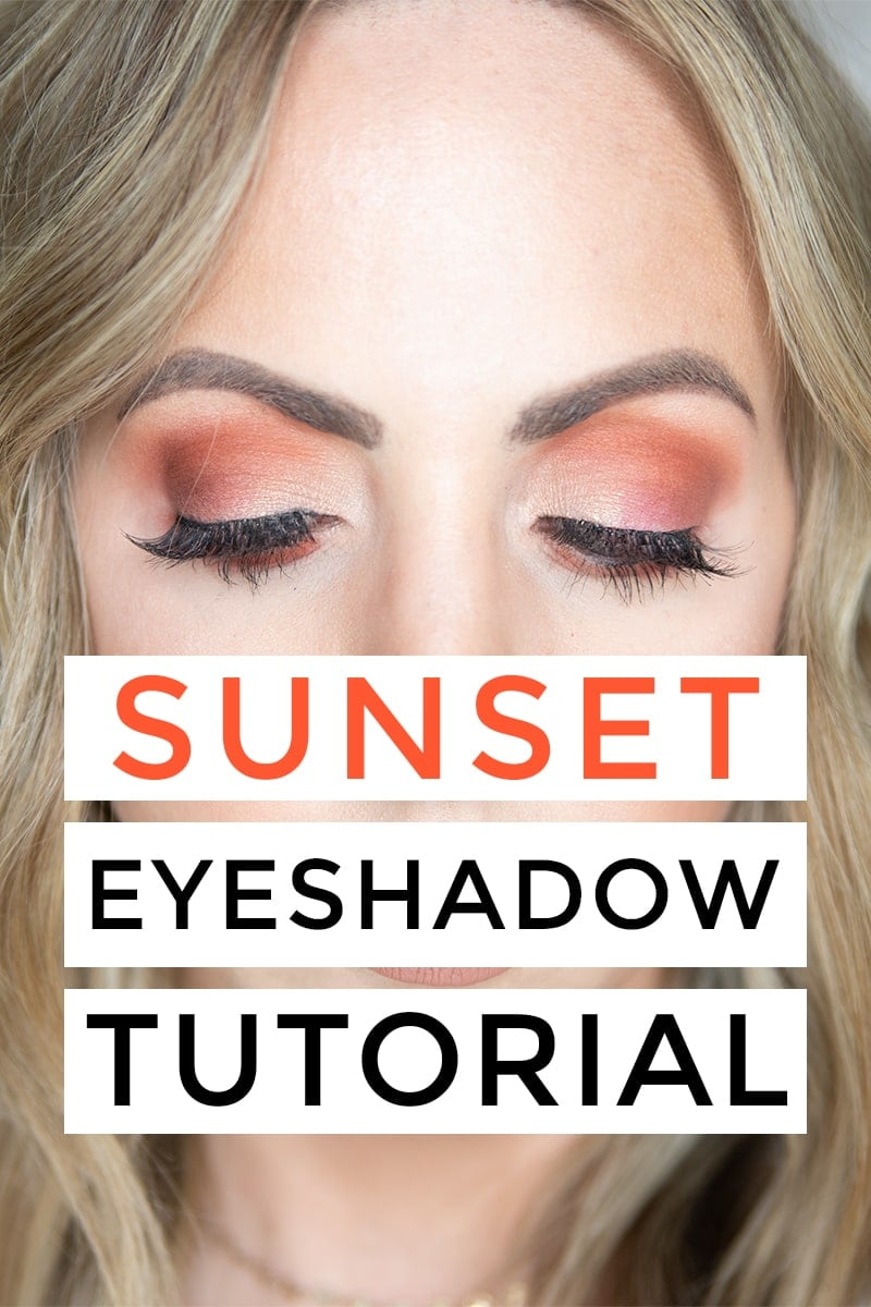 Houston beauty blogger Meg O. on the Go shares a sunset eyeshadow tutorial using the Urban Decay Born to Run Eyeshadow palette