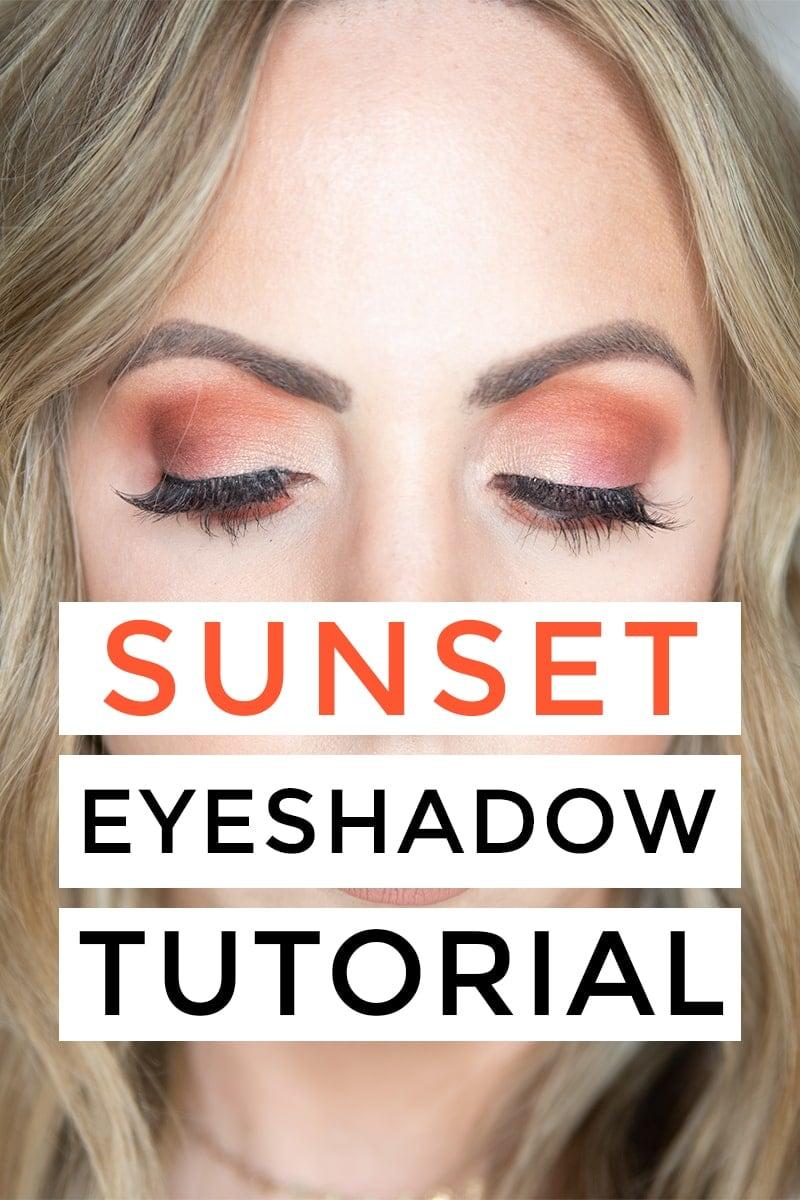 Houston beauty blogger Meg O. on the Go shares a sunset eyeshadow tutorial using the Urban Decay Born to Run Eyeshadow palette