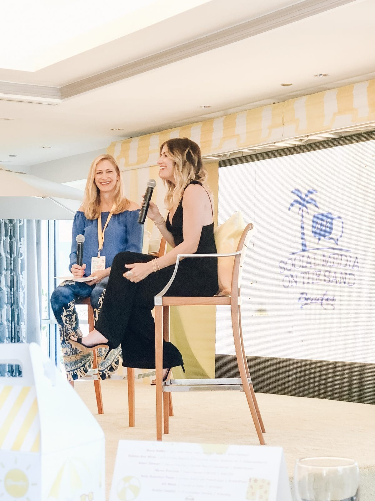 Beaches Moms Social Media on the Sand 2018 Conference - chatting with Alli Webb, owner of Drybar