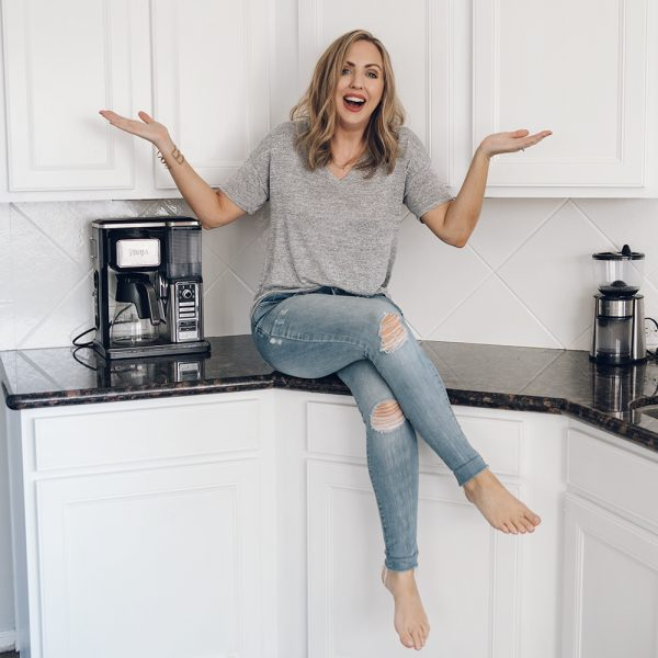 How I Painted My Entire Kitchen (Including the Backsplash!) For Under $250