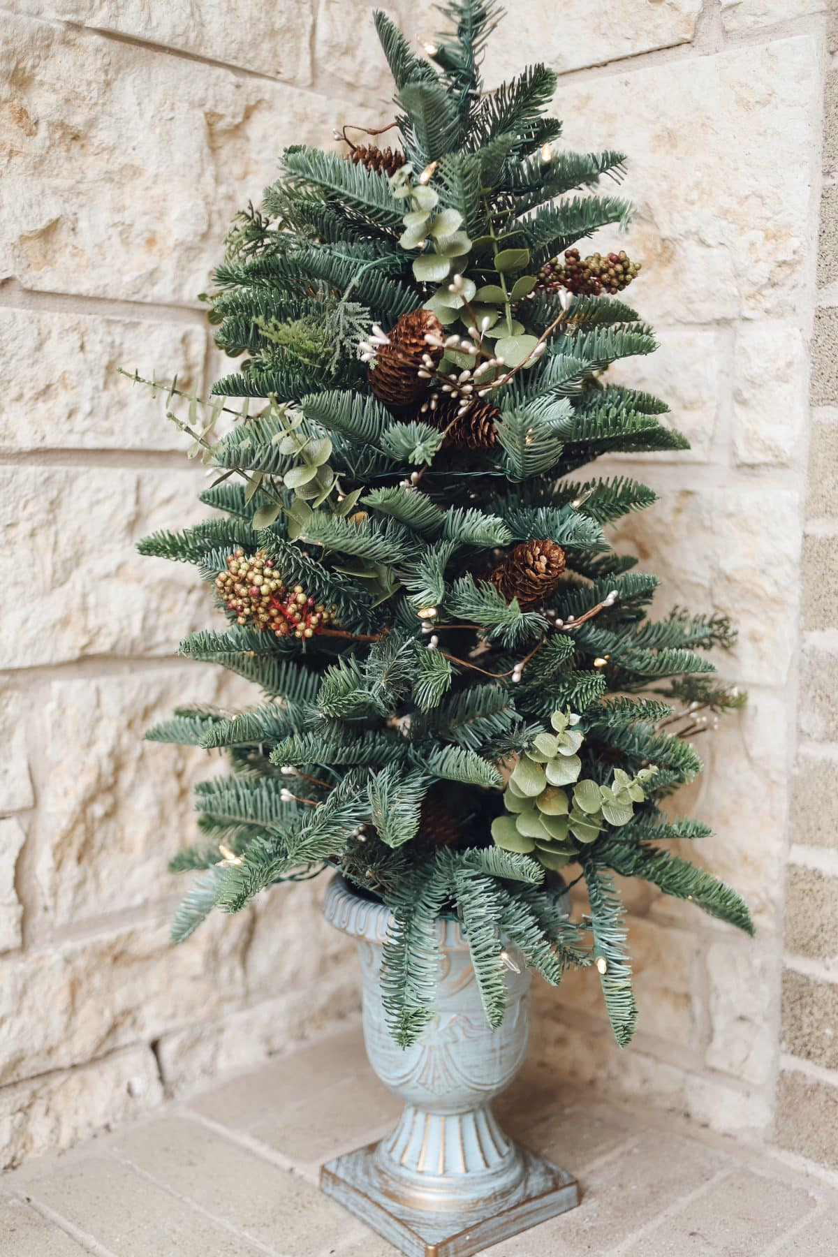 Balsam Hill Mountain Meadow Outdoor Potted tree