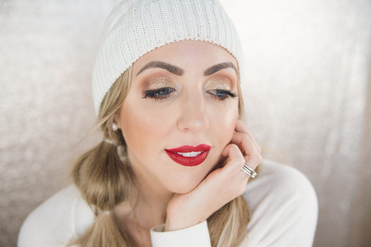 Houston beauty and lifestyle blogger Meg O. on the Go shares an easy holiday glam makeup tutorial