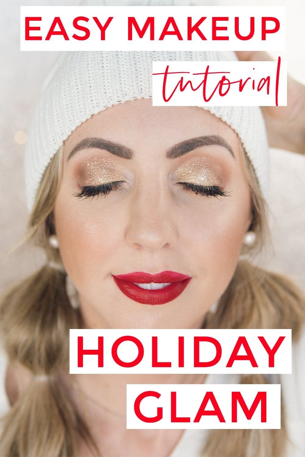 Easy holiday makeup tutorial #makeuptutorial #holidaymakeup #christmas #makeuptutorial #beauty #beautyblogger