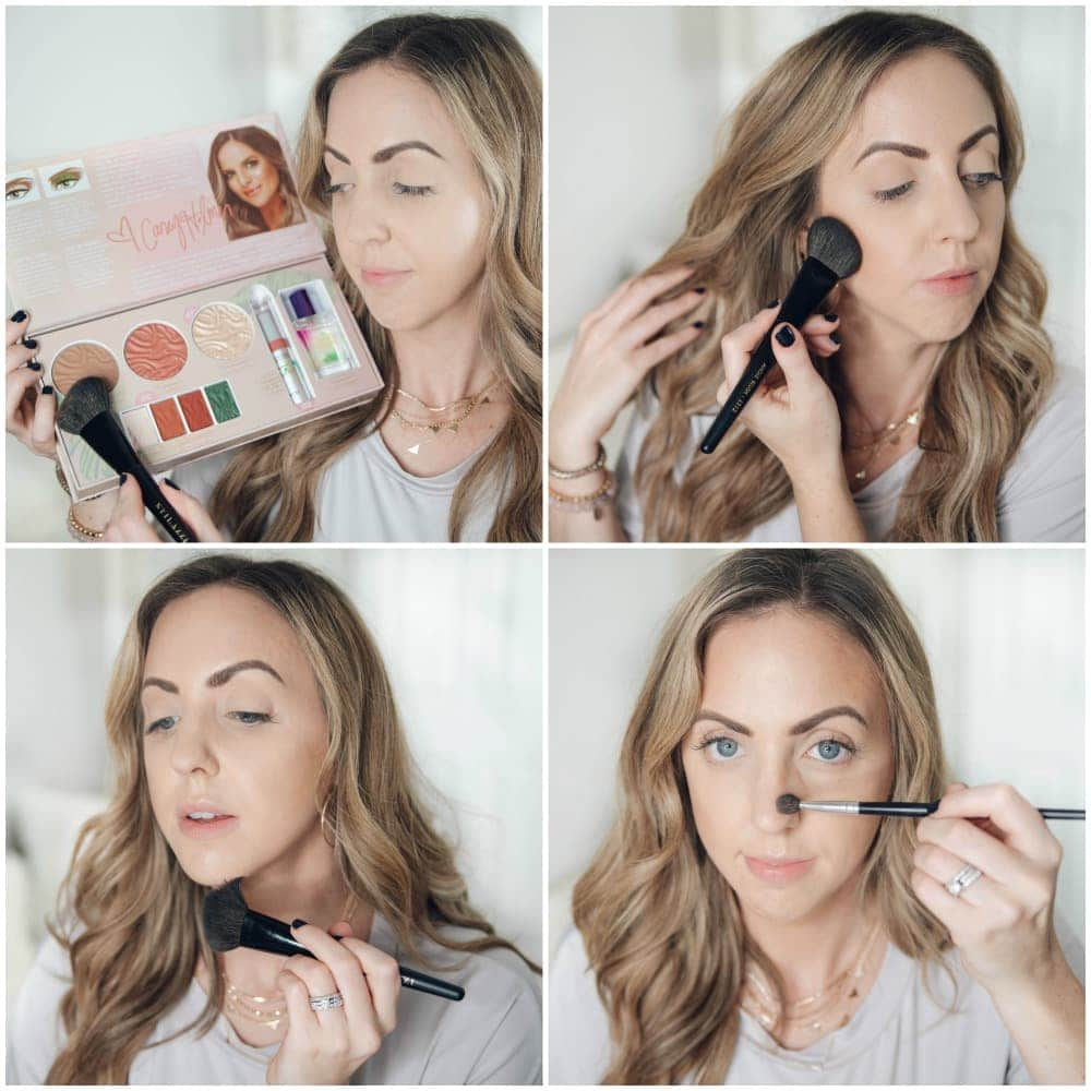 Houston beauty blogger Meg O. on the Go shares the Physicians Formula Casey Holmes Butter Collection - applying the bronzer