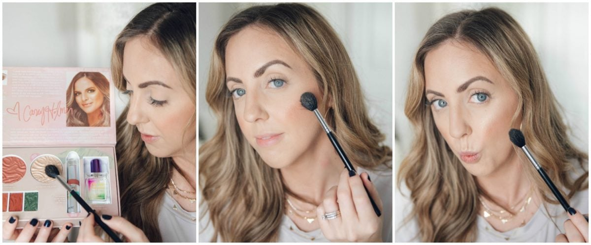 Houston beauty blogger Meg O. on the Go shares how to apply the Physicians Formula Butter Collection x Casey Holmes highlighter in Just Beachy
