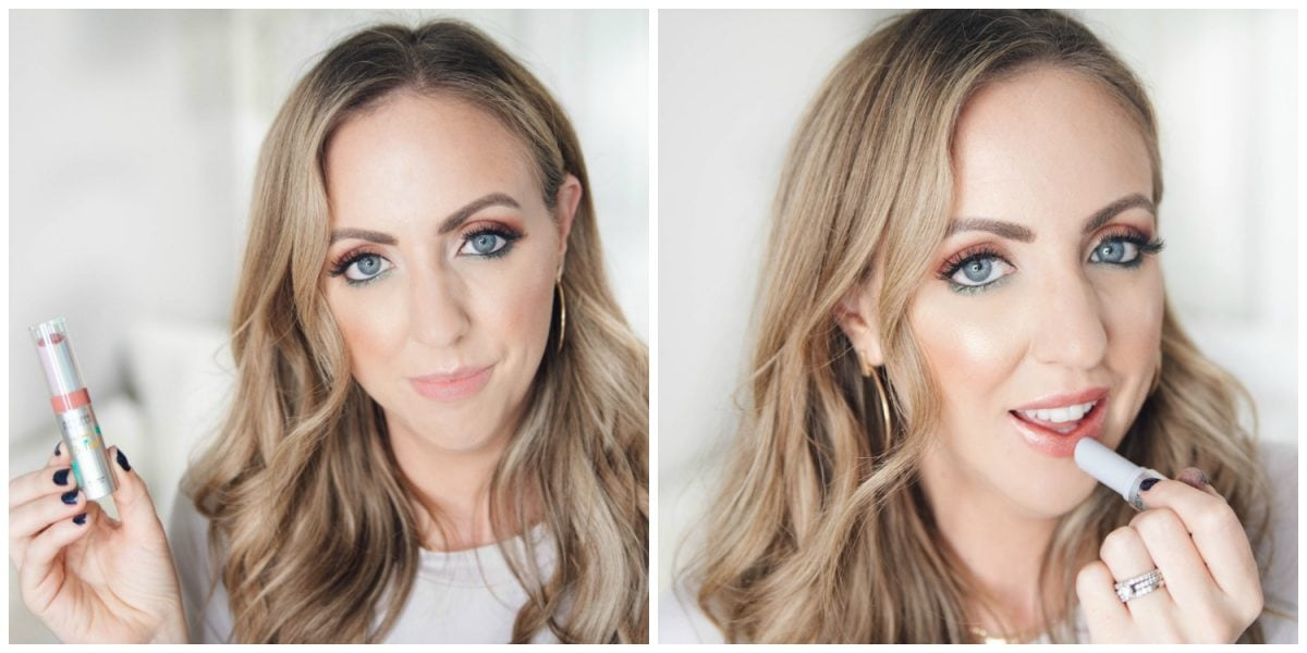 Houston beauty blogger Meg O. on the Go shares how to apply the Physicians Formula Butter Collection x Casey Holmes Murumuru Butter Lip Cream in Pop the Bubbly