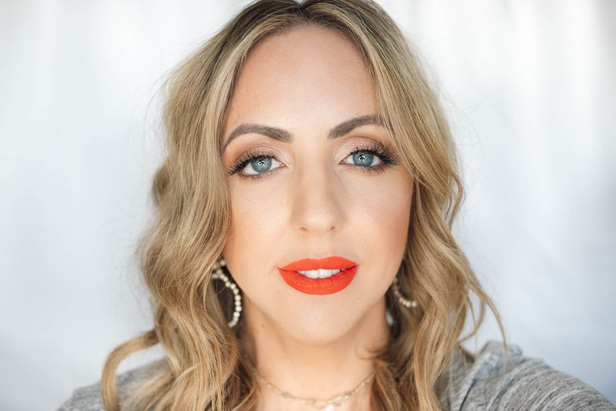 Houston beauty blogger Meg O. on the Go shares the best drugstore lipsticks for fair skin - Pixi Orange Red