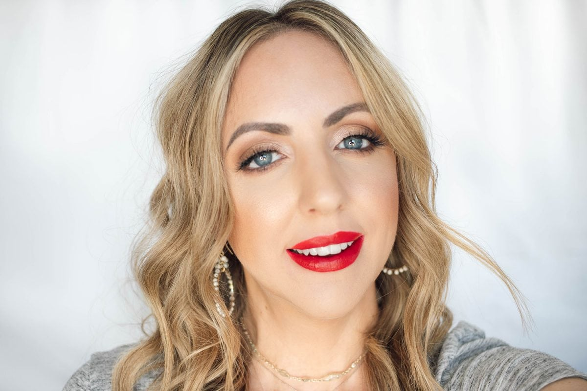 Houston beauty blogger Meg O. on the Go shares the best drugstore lipsticks for fair skin - Wet 'n Wild Stoplight Red