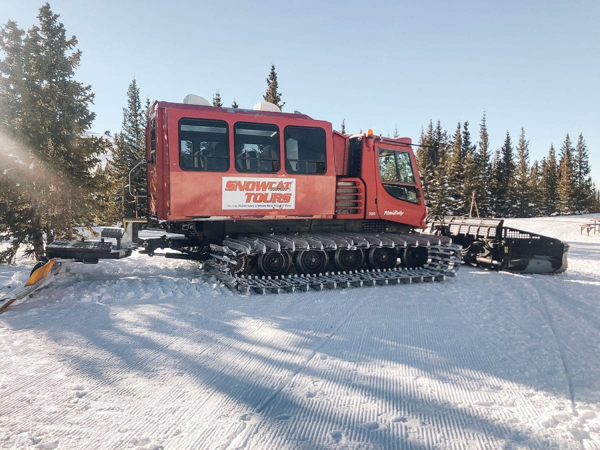 Houston blogger Meg O. shares her ski trip with kids to Winter Park Resort Colorado - definitely do the snowcat tour through the mountain