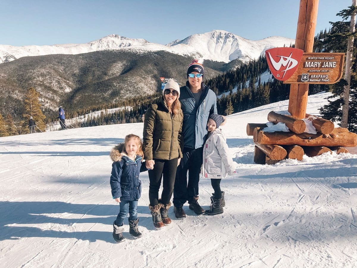 Houston blogger Meg O. shares her ski trip with kids to Winter Park Resort Colorado - definitely do the snowcat tour through the mountain - cool photo opp at Mary Jane and the continental divide