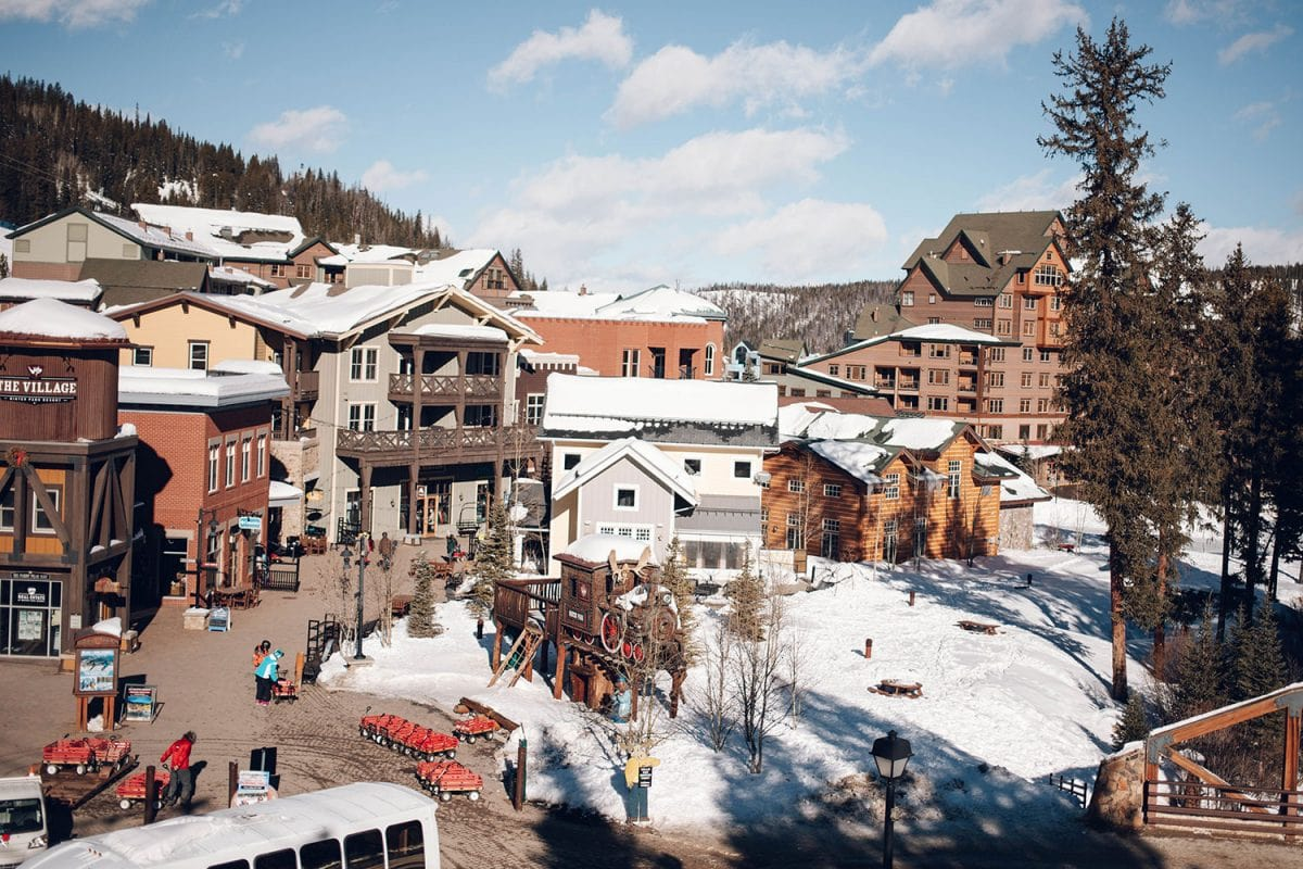 Houston blogger Meg O. shares her family ski vacation to Winter Park Resort Colorado - the Winter Park Resort Village is so cute and the perfect one stop shop area for dining and shopping