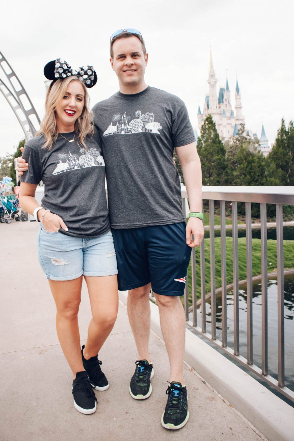 Houston lifestyle blogger Meg O. on the Go shares adorable Disney tees for the whole family. Disney Skyline T-shirts from The Home T