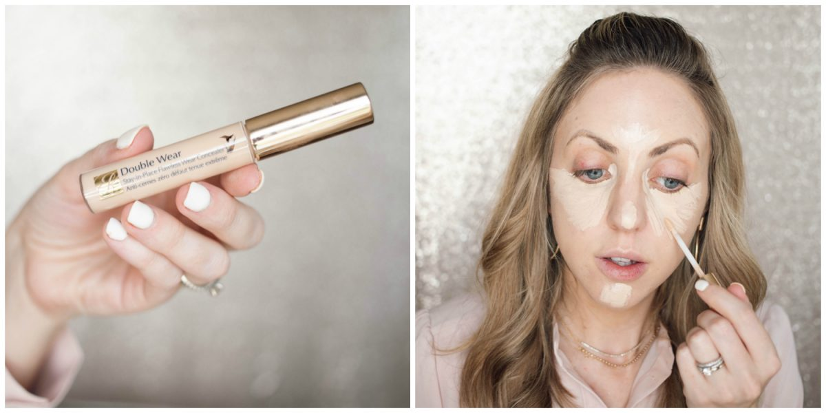 Houston beauty blogger Meg O. shares a spring makeup look - achieve dewy skin and glossy lips! Estee Lauder Double Wear concealer for full coverage that is long wearing