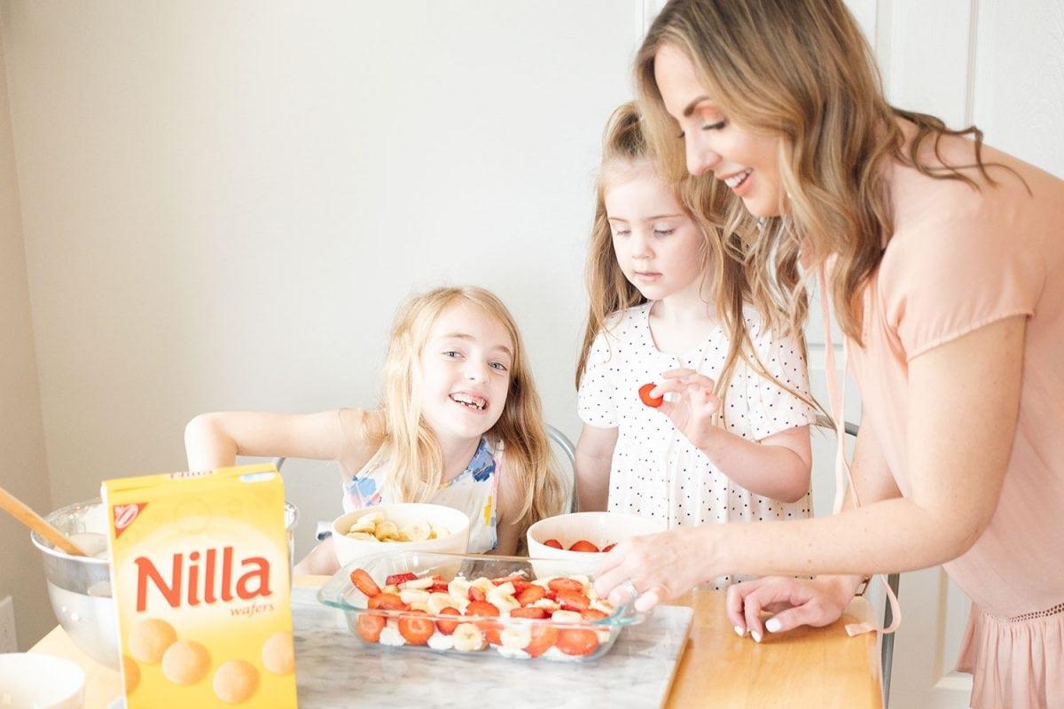 Strawberry banana icebox cake with Nilla Wafers