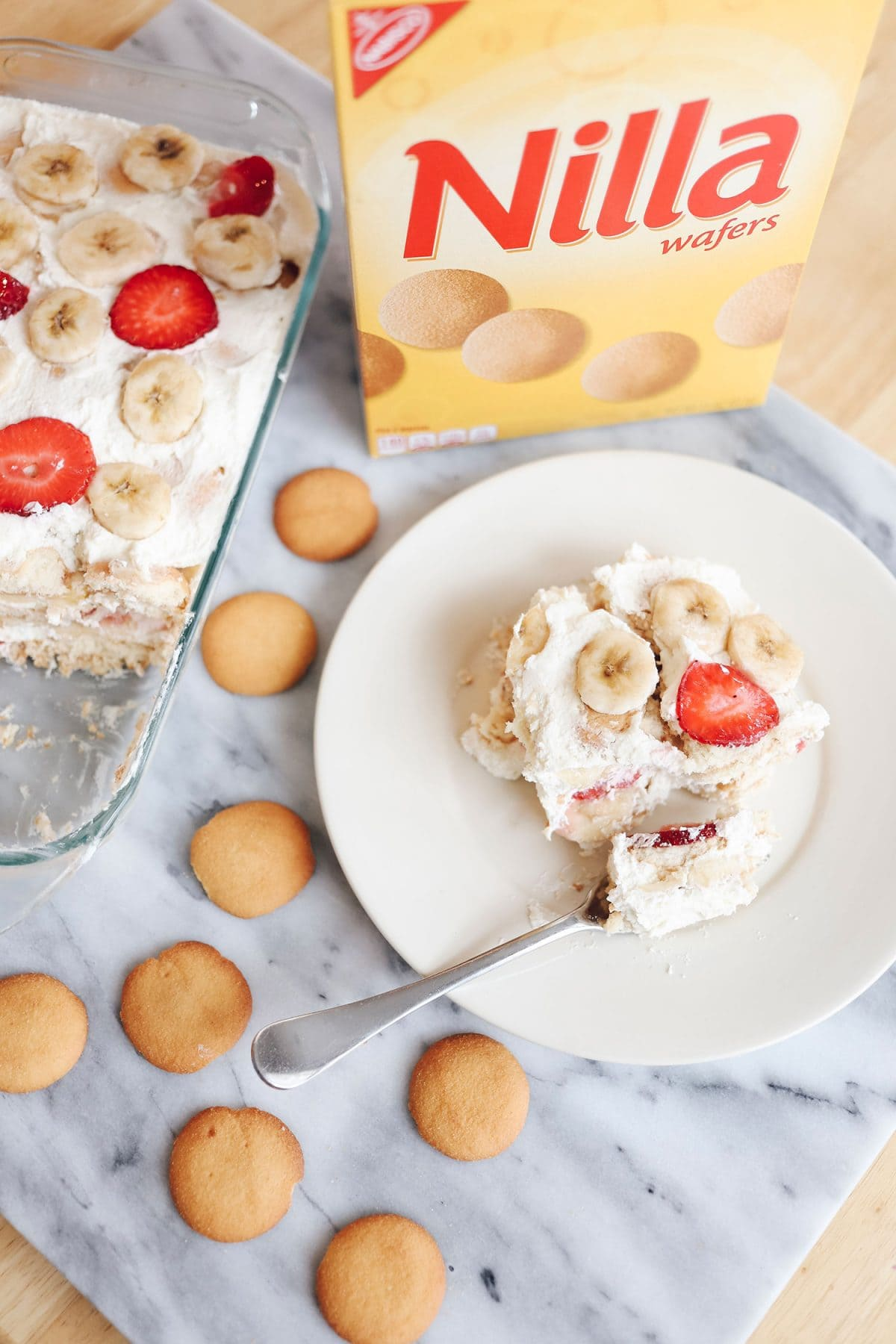 Nilla wafers strawberry icebox cake - super easy no-bake recipe that the whole family will love