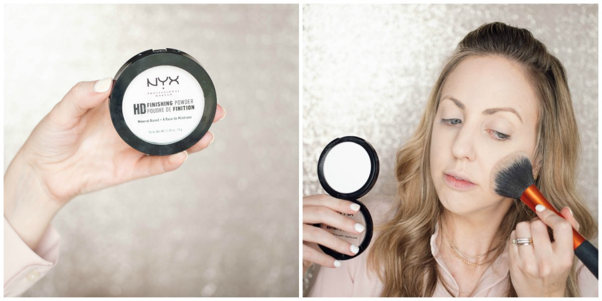 Houston beauty blogger Meg O. shares a spring makeup look - achieve dewy skin and glossy lips! NYX HD Finishing powder for a flawless foundation set
