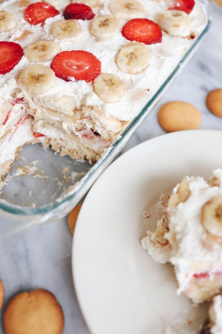 Strawberry Banana Icebox Cake